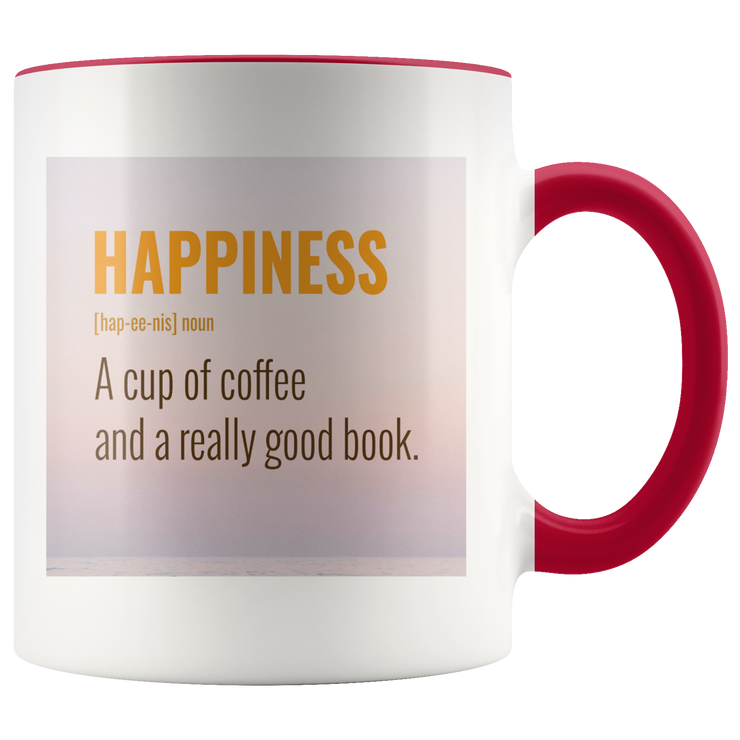 Happiness Mug | Red | Drinkware | JacksonsRunaway