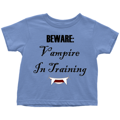 Vampire In Training Toddler T-Shirt | Toddler T-Shirt / Baby Blue / 6-May | T-shirt | JacksonsRunaway