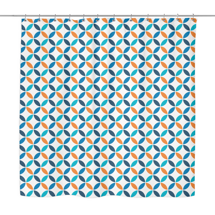 Simplistic Blue Shower Curtain