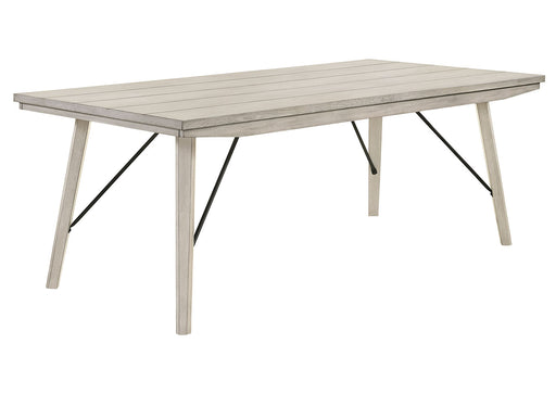 Crown Mark White Sands Rectangular Dining Table in Cream 2132T-4079 image