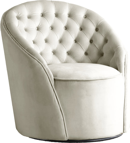 Alessio Cream Velvet Accent Chair image