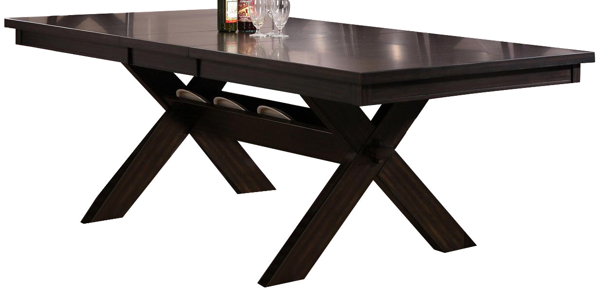 Crown Mark Havana Rectangular Trestle Dining Table in Dark Brown 2335T-4290 image
