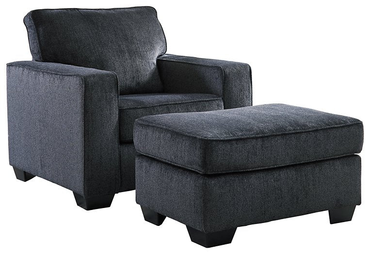 Altari Signature Design 2-Piece Chair & Ottoman Set image