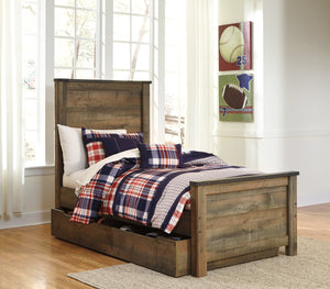 Trinell Signature Design by Ashley Bed with Storage Drawer