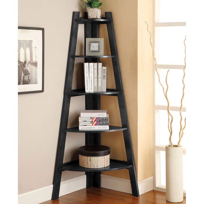 Lyss Black Ladder Shelf image