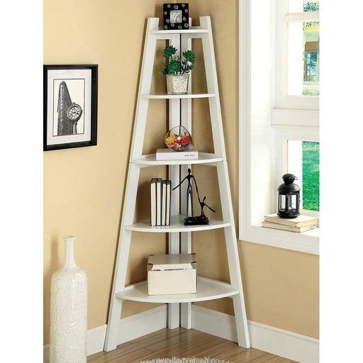 Lyss White Ladder Shelf image