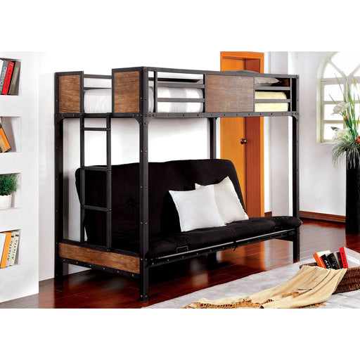 CLAPTON Black Twin Bed w/ Futon Base image