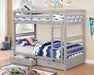 California IV Gray Twin/Twin Bunk Bed image