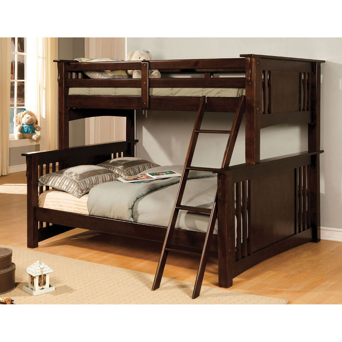 Spring Creek Dark Walnut Twin/Full Bunk Bed image