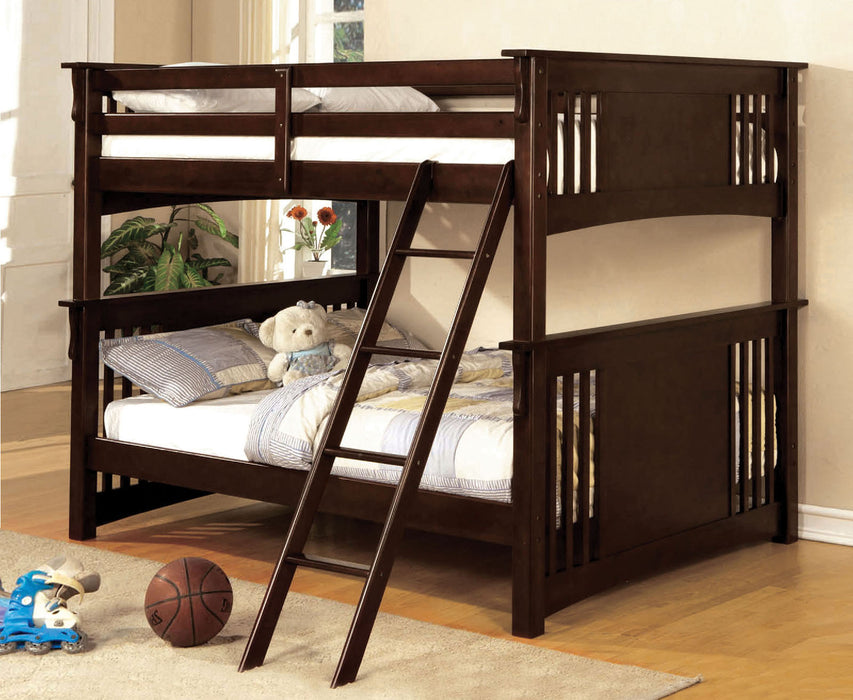 Spring Creek Dark Walnut Full/Full Bunk Bed image