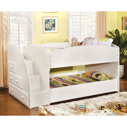 Merritt White Twin/Twin Bunk Bed image