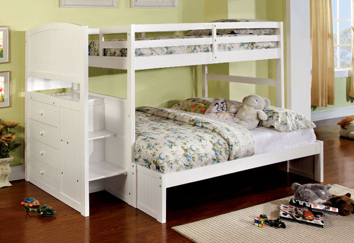 Appenzell White Twin/Full Bunk Bed image