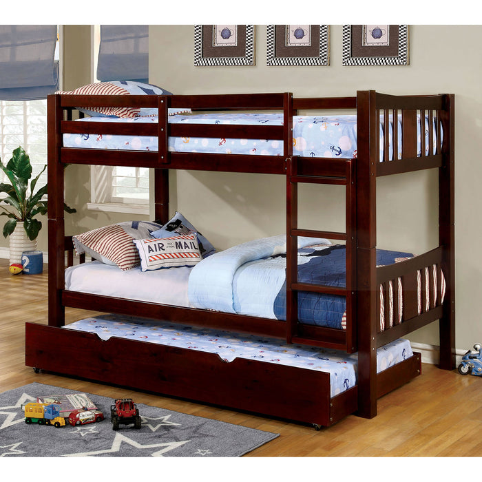 CAMERON Dark Walnut Twin/Twin Bunk Bed image