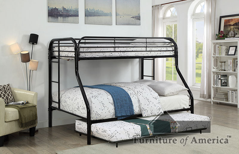 Opal Black Twin/Full Bunk Bed image