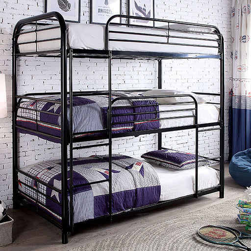 Opal Ii Black Twin Triple Decker Bed image