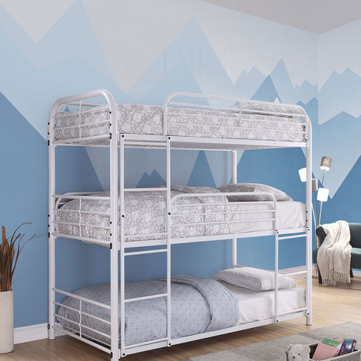 Opal Ii White Twin Triple Decker Bed image
