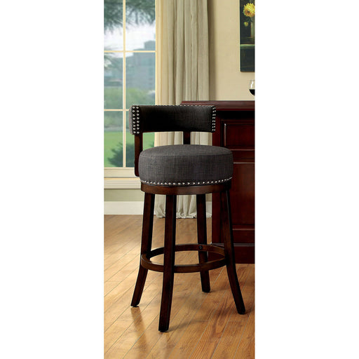"LYNSEY Dark Oak/Gray 24"" Bar Stool image"