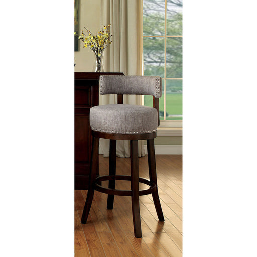 "LYNSEY Dark Oak/Light Gray 24"" Bar Stool image"