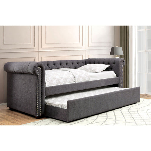 Leanna Gray Queen Daybed w/ Trundle, Gray image