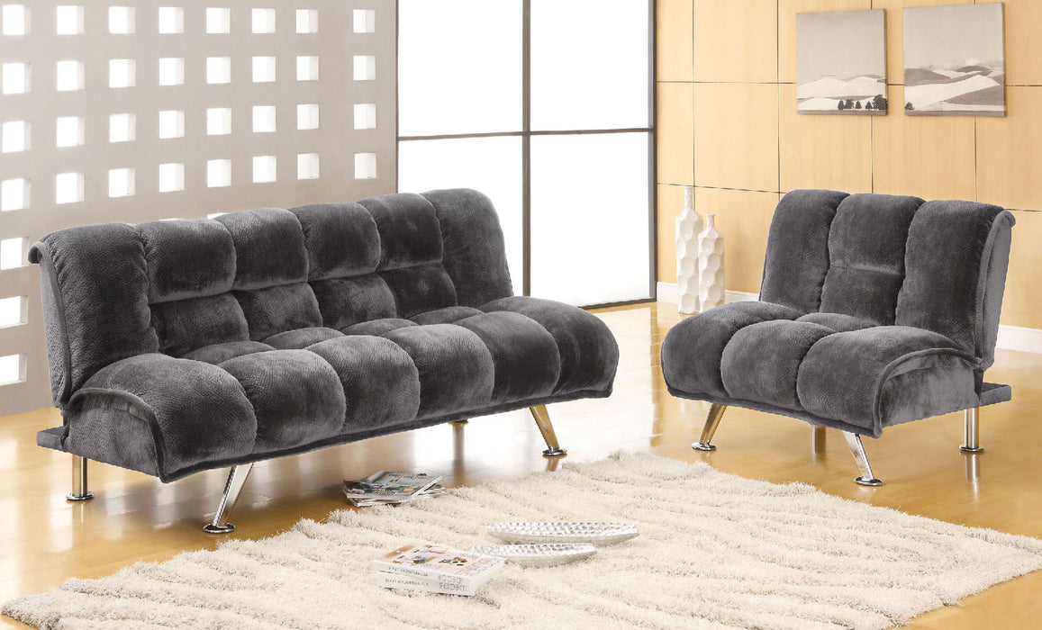 Marbelle Gray Futon Sofa + Chairs image