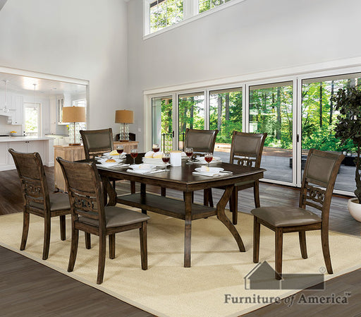 Holly Satin Walnut Dining Table image