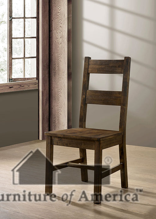 Kristen Rustic Oak Side Chair (2/CTN) image