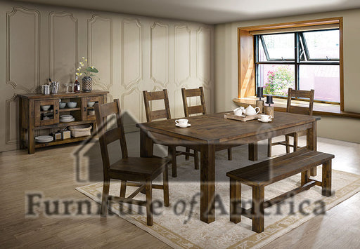 Kristen Rustic Oak 7 Pc. Dining Table Set image