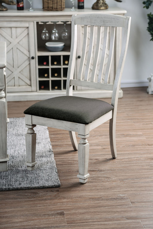 Georgia Antique White/Gray Side Chair (2/CTN) image