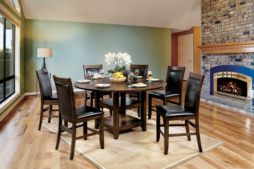 MEAGAN II Brown Cherry, Espresso 5 Pc. Counter Ht. Table Set image