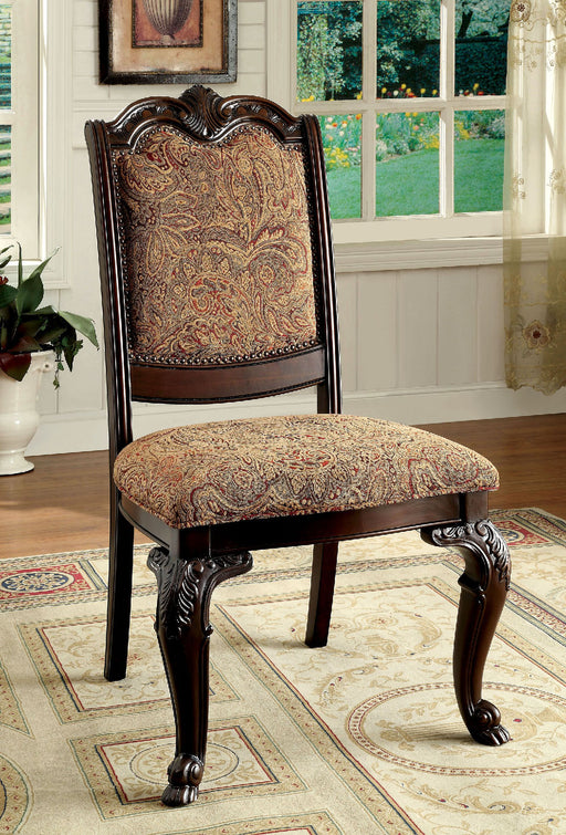 BELLAGIO Brown Cherry/Pattern Fabric Side Chair (2/CTN) image