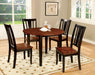 DOVER II Black, Cherry Round Table w/ Drop Leaf image