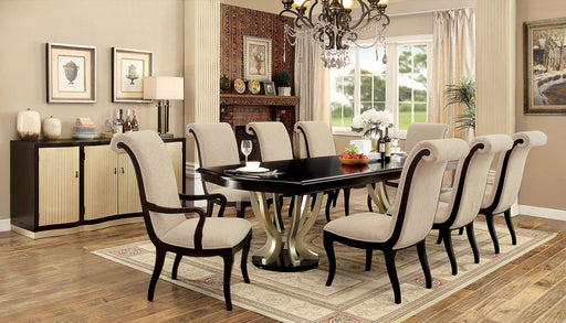 Ornette Espresso/Champagne 7 Pc. Dining Table Set (2AC+4SC) image