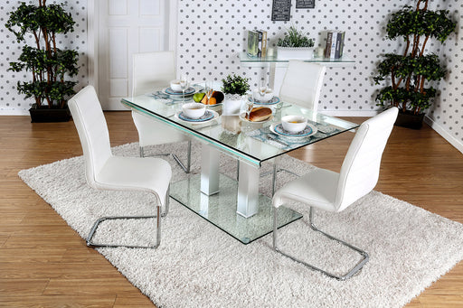 Richfield I Silver/Chrome 7 Pc. Dining Table Set image