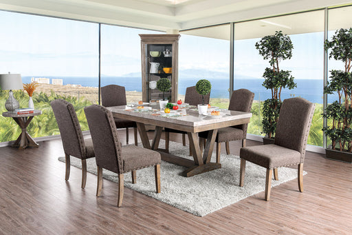 Bridgen Natural 7 Pc. Dining Table Set image