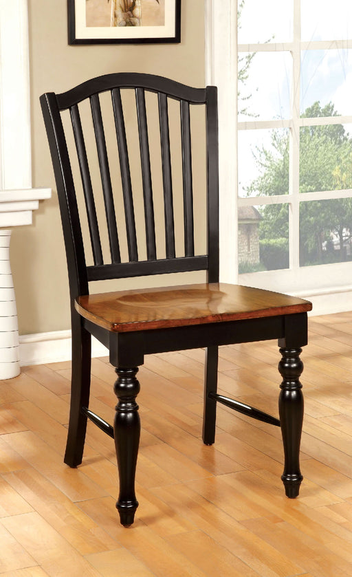 MAYVILLE Black/Antique Oak Side Chair (2/CTN) image