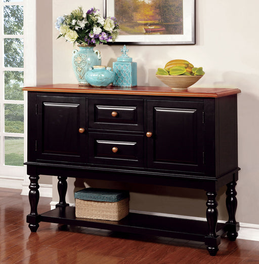 MAYVILLE Black/Antique Oak Server image