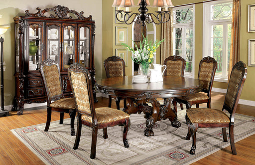 MEDIEVE Cherry 7 Pc. Round Dining Table Set image