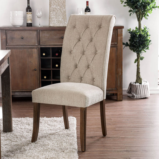 Marshall Beige/Rustic Oak Side Chair (2/CTN) image