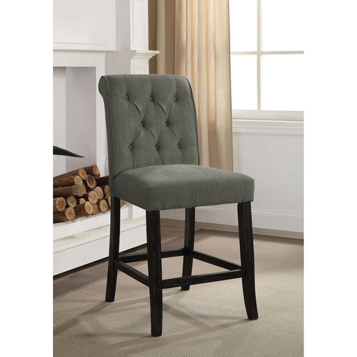 Izzy Gray/Antique Black Counter Ht. Chair, Gray (2/CTN) image