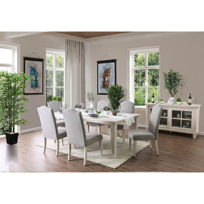 Daniella Antique White 7 Pc. Dining Table Set image