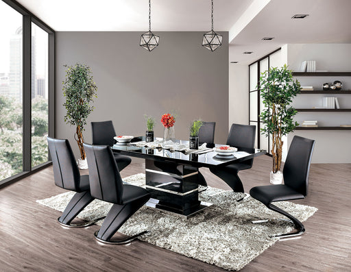 Midvale Black/Chrome 5 Pc. Dining Table Set image