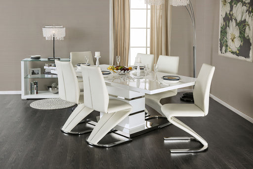 Midvale White/Chrome 5 Pc. Dining Table Set image