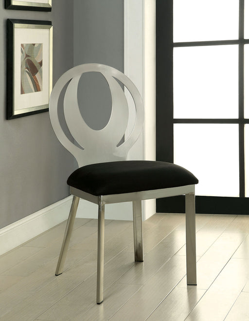ORLA Silver/Black Side Chair (2/CTN) image