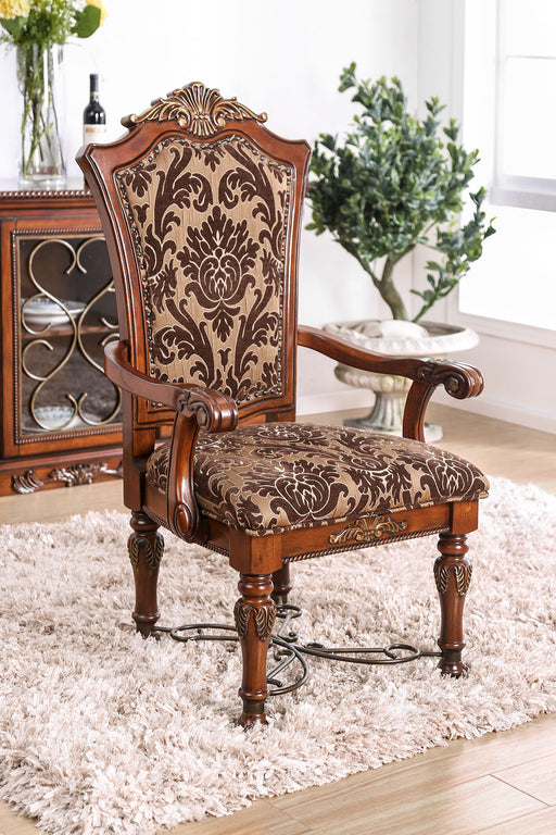 Lucie Brown Cherry Arm Chair (2/CTN) image