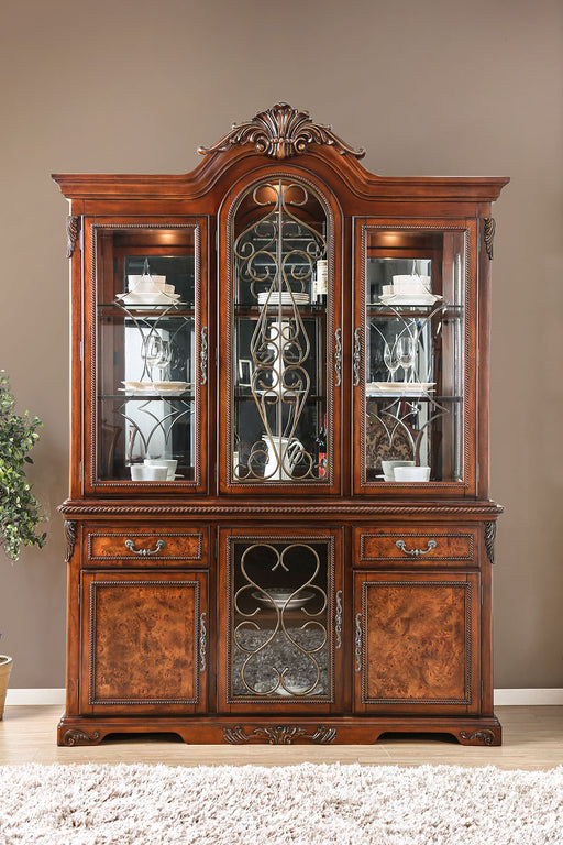 Lucie Brown Cherry Hutch & Buffet image