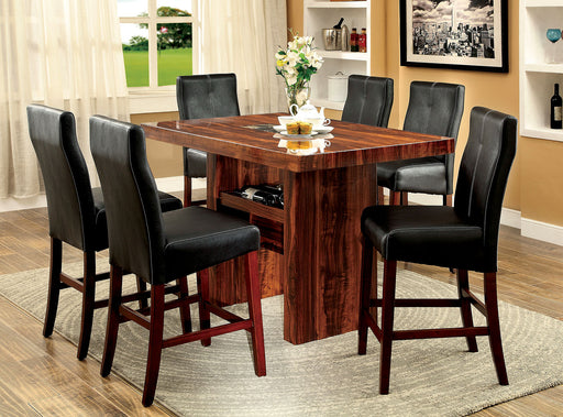 BONNEVILLE II Brown Cherry 7 Pc. Counter Ht. Dining Table Set image