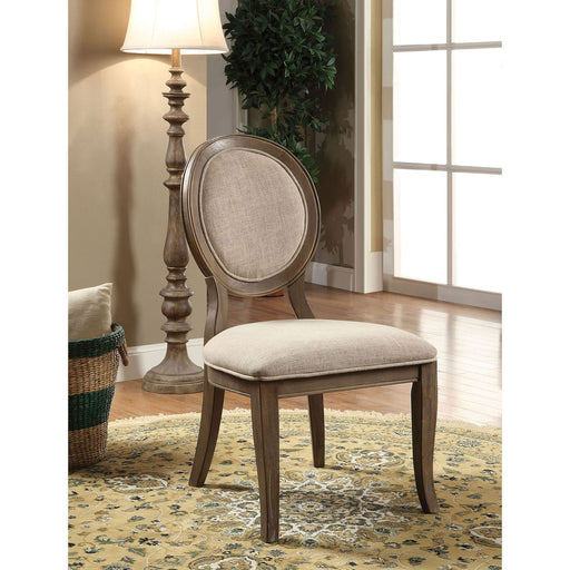 Kathryn Rustic Dark Oak/Beige Side Chair (2/CTN) image