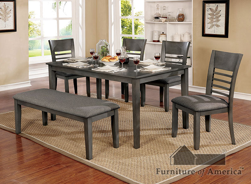 Hillsview Gray 6 Pc. Dining Table Set w/ Bench image