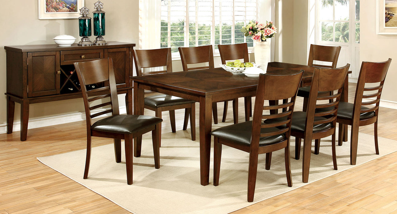 "HILLSVIEW I Brown Cherry 78"" Dining Table w/ 18"" Leaf image"