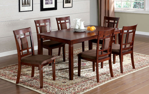 Montclair I Dark Cherry/Brown 7 Pc. Dining Table Set image